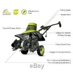 Sun Joe TJ601E 120V 18 Electric Corded Garden Tiller/Cultivator