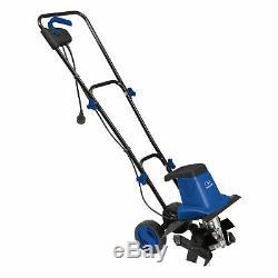 Sun Joe TJ602E-SJB Electric Garden Tiller/Cultivator, Blue 12-Inch 8 Amp