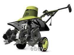Sun Joe TJ603E 16 Inch 12 Amp Electric Tiller & Cultivator Green Folding Handle
