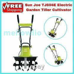 Sun Joe TJ604E Electric Garden Tiller Cultivator 16-Inch 13.5 Amp
