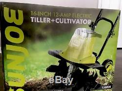 Sun Joe Tiller Joe 16 Inch 12 AMP Electric Garden Tiller Cultivator Cultivators