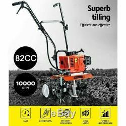 Tiller Cultivator 82CC Petrol Rotary Hoe Garden Mini 4 Tine UK EXPRESS DELIVER