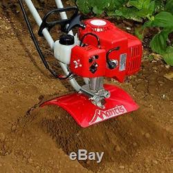 Tiller Cultivator FastStart 2 Cycle Commercial Engine Mantis Garden Yard Soil