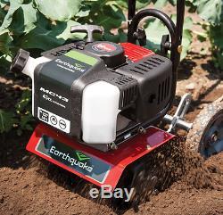 Tiller Cultivator Small Rototiller Garden Gas Powered Soil Aerator 10 Dig Weeds