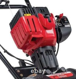 Troy-Bilt EC 2 Cycle Gas Power Walk Behind 9 Inch Garden Cultivator Tiller, Red