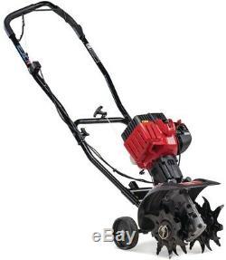 Troy Bilt Gas Cultivator Garden Soil 9 Inch 25cc 2 Cycl JumpStart Capabilities