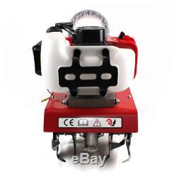 Upgrade 52cc Garden Mini Tiller Petrol Power Soil Cultivator 2Stroke Engine Tool