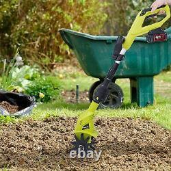 VILOBOS Electric Garden Tiller/Cultivator Cordless Yard Gardening Tool 2.0Ah 6