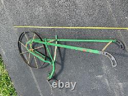 VTG Antique Garden Cultivator Single Wheel Push Plow Seeder Planter Farm Decor
