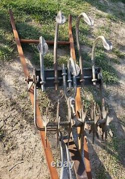 Vintage Antique Garden Hand Push Cultivator Tiller Weed Plow Vegetable Claw