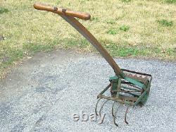 Vintage Antique HD Garden Hand Push Cultivator Tiller Weed Plow Vegetable Claw