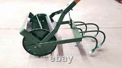 Vintage Antique Hand Push Garden Tiller Cultivator Plow Claw Very Nice
