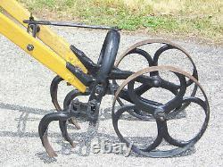 Vintage Antique NEW UNIVERSAL 2-wheel Garden Hand Push Cultivator Weed Planet jr