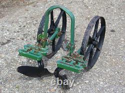 Vintage Antique PLANET JR 2 -wheel Garden Hand Push Cultivator Weed Sweep Plow