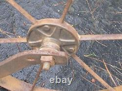 Vintage Planet Jr Double Wheel Cultivator with Handle Brackets