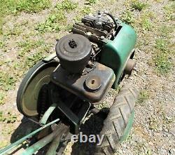 Vintage Planet Junior Jr Super Tuffy Gas Powered Walk Behind Cultivator, Running