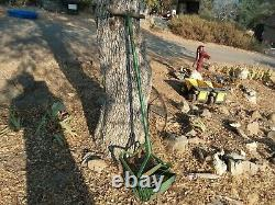Vintage Push Plow Garden Cultivator Antique Farm Yard Art Decor Tool Primitive