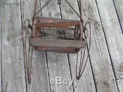 Vintage RO-HO Style Garden Cultivator withAdjustable Foilage Guards-Wood Handle