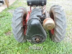 Vintage Standard Twin Garden Tractor with Cultivator, (VBXX)