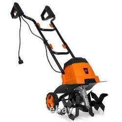 WEN Electric Tiller Cultivator 14.2 in. 7 Amp Motor 2 Removable Wheels 16 Blades