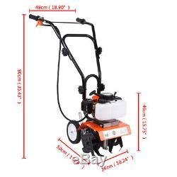 52cc 2-stroke Mini-motoculteur Moteur De Gaz De Sol Cultivateur Jardin Ferme Usine De Labourage