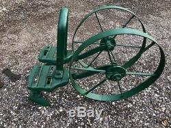 Antique Planète Jr. Double Deux Roues Cultivateur Plow Balayage Outil De Jardin