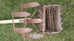 Antique Rowe Mfg. Motoculteur Rototiller Hoe Dirt Cultivateur Charrue Vintage USA