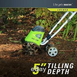 Cordel Tiller Cultivateur Digger Gardening Outil Portable Portable Outdoor 8 Ampères