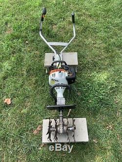 Cultivateur De Jardin Motoculteur Stihl Mm55 Légèrement Utilisé Motoculteur 27cc / Navires Rapide