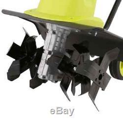 Cultivateur De Jardinière Motrice Électrique 16 Pouces 12 Amp 6 Dents Réglables Pour Usage Intensif