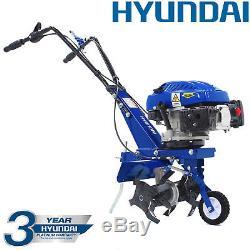 Cultivateur De Motoculture Rotovator Cultivateur Essence Hyundai 3.4hp 139cc 4 Temps 1