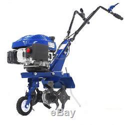 Cultivateur Rotovator Cultivateur Essence Garden Tondeuse À Gazon Hyundai 3.4hp 139cc 4 Temps