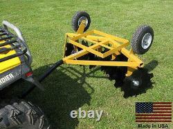 Disc Cultivator Harrow 5 Ft Cut Width Tow Behind Atv Utv & Garden Tractor