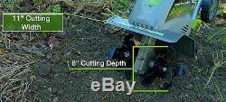 Earthwise Tc70001 11-inch 8.5-amp Corde Électrique Cultivateur / Cultivateur