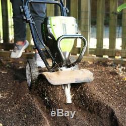 Fraise De Jardin Motoculteur Greenworks 80v Cultivator Avec Batterie 10 En Tl80l00
