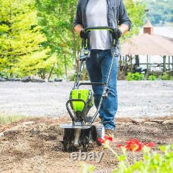 Greenworks 80v 10 Jardin Cultivateur Avec 2 Ah Chargeur De Batterie Et Rapide