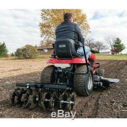 Manches Hitch Disc Cultivateur Riding Tracteur Tondeuse Attachment Largeur Réglable