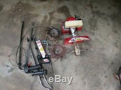 Mantis Garden Tiller 7210 Cultivateur 2 Moteur De Cycle Avec Edger Kit & Béquille
