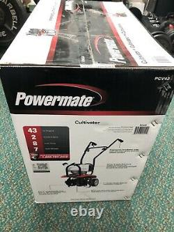 Nouveau Moteur Powermate 43cc 2-cycle Cultivator Avec 7 Roues Pcv43 Livraison Gratuite