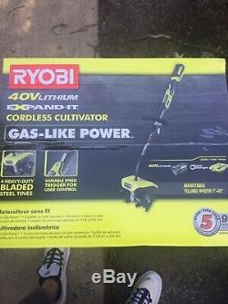 Nouveau Ryobi One + Cultivator Lithiumion Sans Fil Ry40770 4a Piles Et Chargeurs
