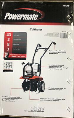 Powermate 43cc Moteur Cultivateur 2-cycle Avec 7 Roues Pcv43 Neuf
