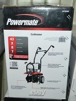 Powermate Moteur 43cc 2-cycle Cultivateur Avec 7 Roues Pcv43