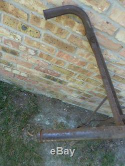 Primitive Vintage Antique Cultivateur Haute Roue Ferme / Jardin Rustique Plough