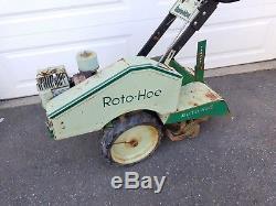Roto-hoe 904 Rotoculteur Rototiller Vintage B & S Moteur À Gaz