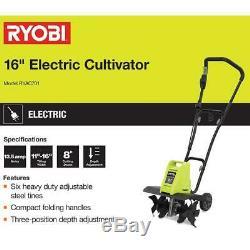 Ryobi 16 Po. 13,5 Amp Corded Cultivateur Ryac701