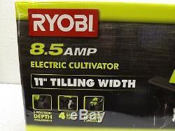 Ryobi Cultivateur Portable 11 Largeur De Travail 8,5 Ampères Cordon De Verrouillage Pliable Électrique