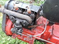 Tracteur De Jardin Jumeau Vintage Standard Avec Cultivateur, (vbxx)